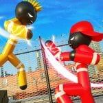 Stickman Police VS Gangsters Street Fight